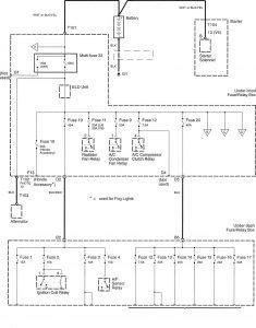 Honda Accord - wiring diagram - power distribution (part 1)