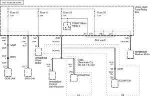 Honda Accord - wiring diagram - power distribution (part 10)