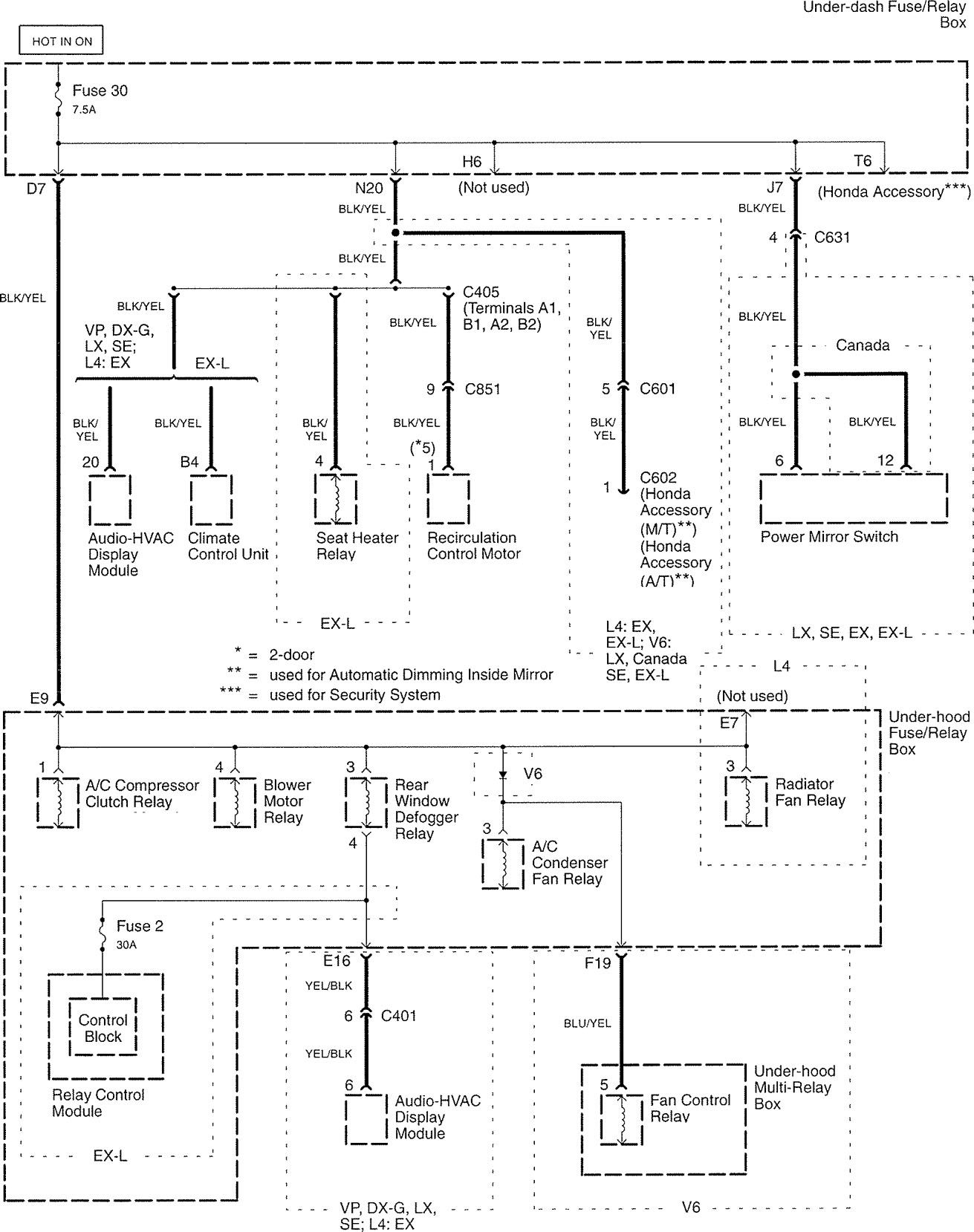 Honda Accord (2006) - wiring diagrams - power distribution ... on