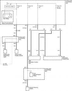 Honda Accord - wiring diagram - power distribution (part 2)