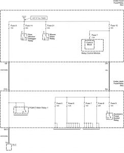 Honda Accord - wiring diagram - power distribution (part 3)