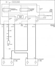 Honda Accord - wiring diagram - power distribution (part 5)
