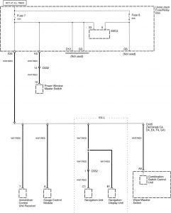 Honda Accord - wiring diagram - power distribution (part 9)