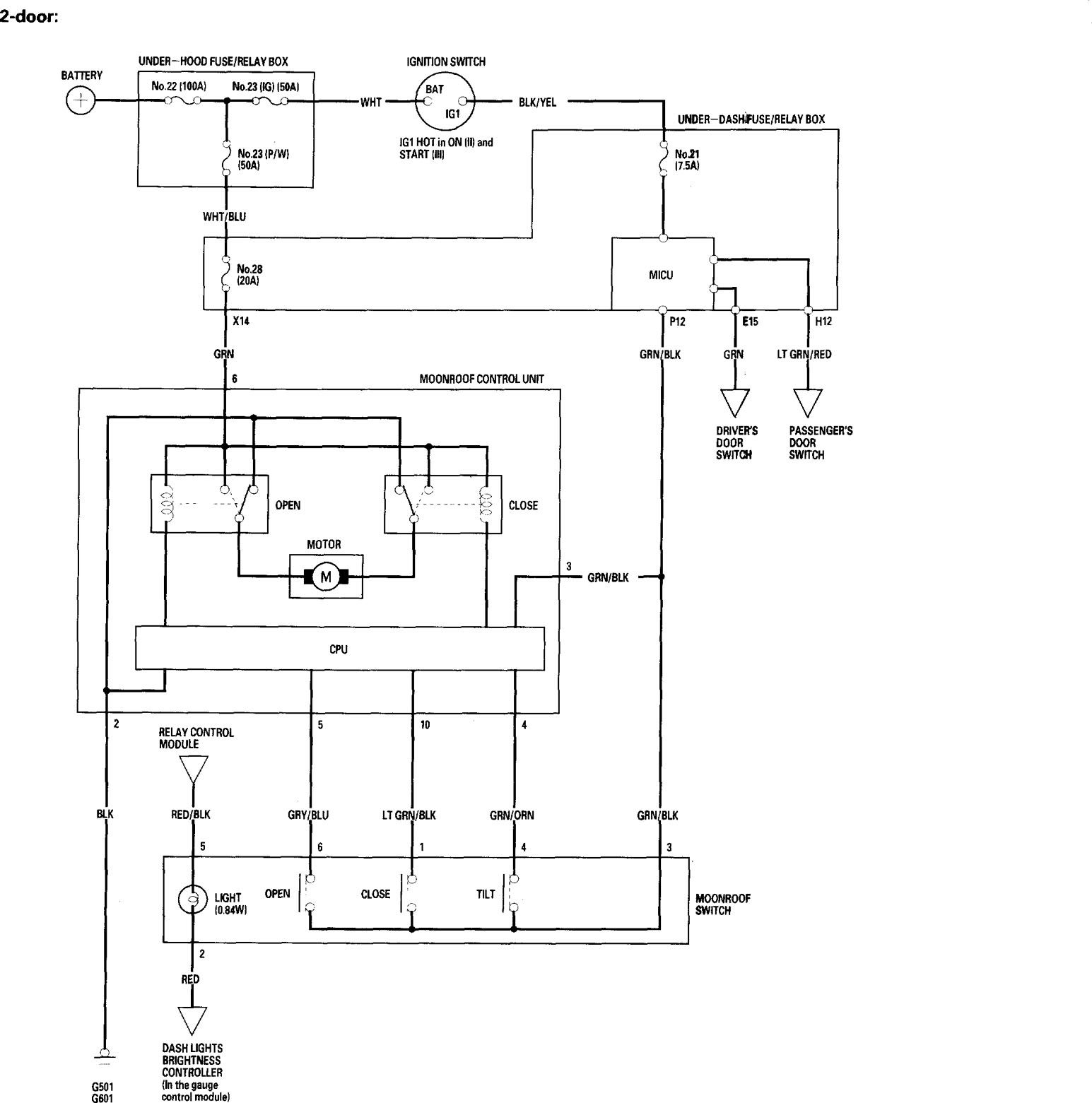 Honda Accord 2006 Wiring Diagrams Sunroof Carknowledge Info