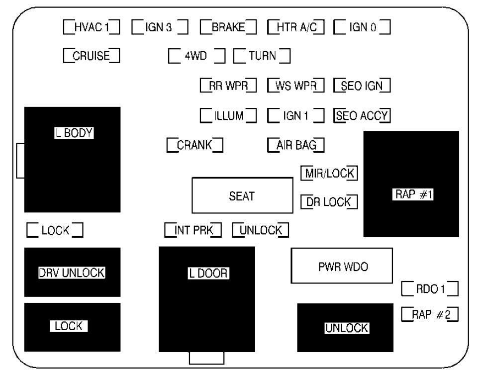 02 Jeep Fuse Box - Wiring Diagrams  Escalade Wiring Diagram on