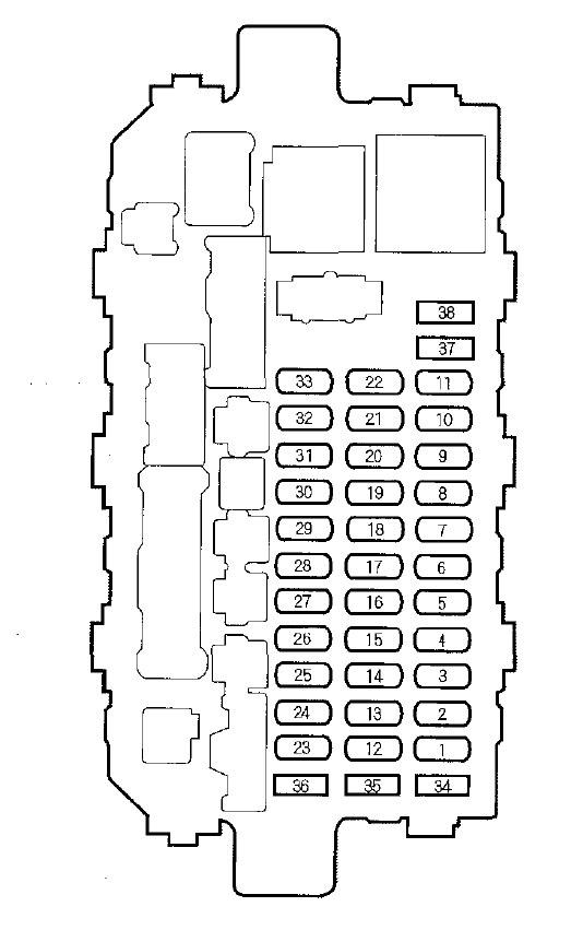 honda cr v 2000 2001 fuse box diagram carknowledge. Black Bedroom Furniture Sets. Home Design Ideas