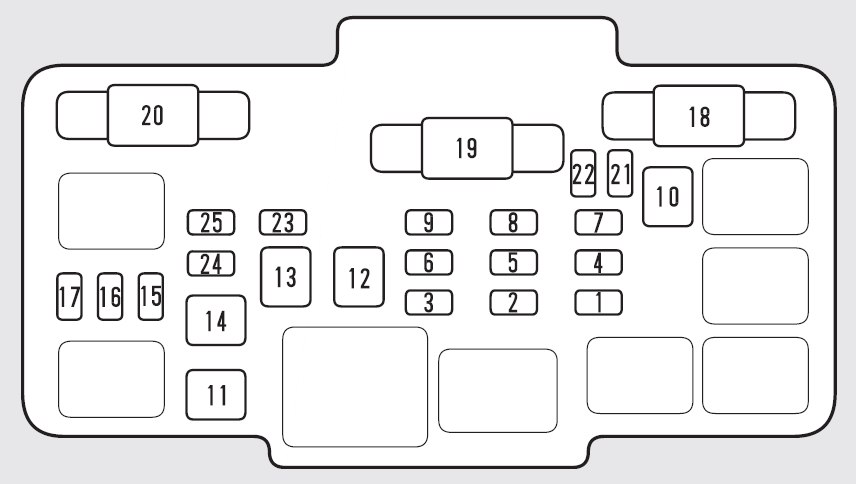 Honda Element  2009  U2013 2010   U2013 Fuse Box Diagram