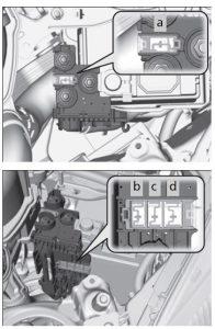 Honda Fit – fuse box diagram – engine compartment (fuse box B)