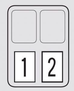 Honda Odysesy – fuse box – engine compartment (secondary box)
