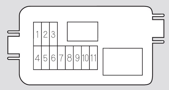 Honda Pilot  2007  U2013 2008   U2013 Fuse Box Diagram