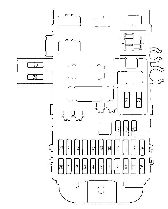 honda prelude  2000   u2013 fuse box diagram