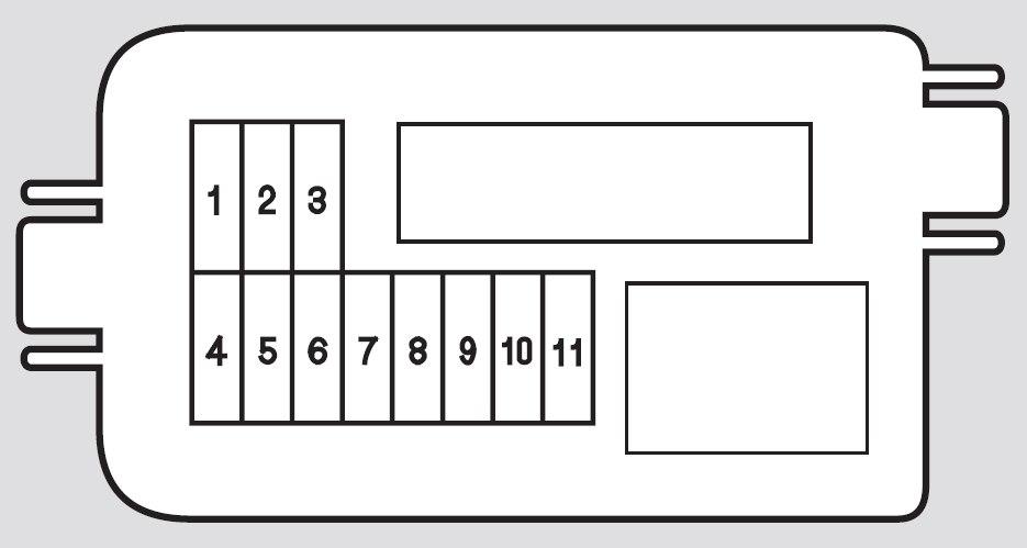 Honda Ridgeline  2012  U2013 2014   U2013 Fuse Box Diagram