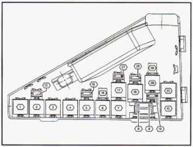 cadillac catera  1997   u2013 fuse box diagram