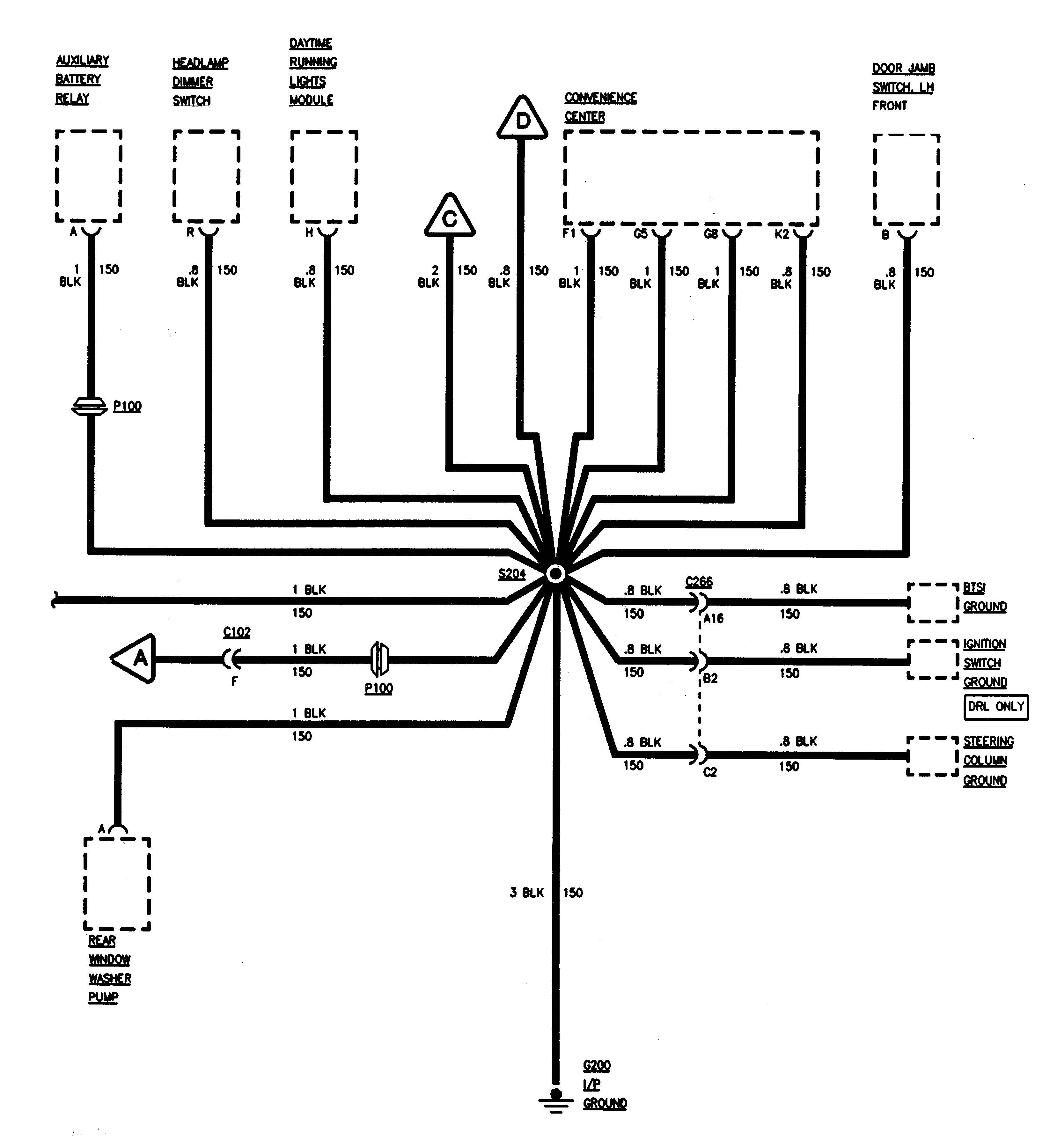 gmc sierra 1500  1995   u2013 wiring diagrams  u2013 ground