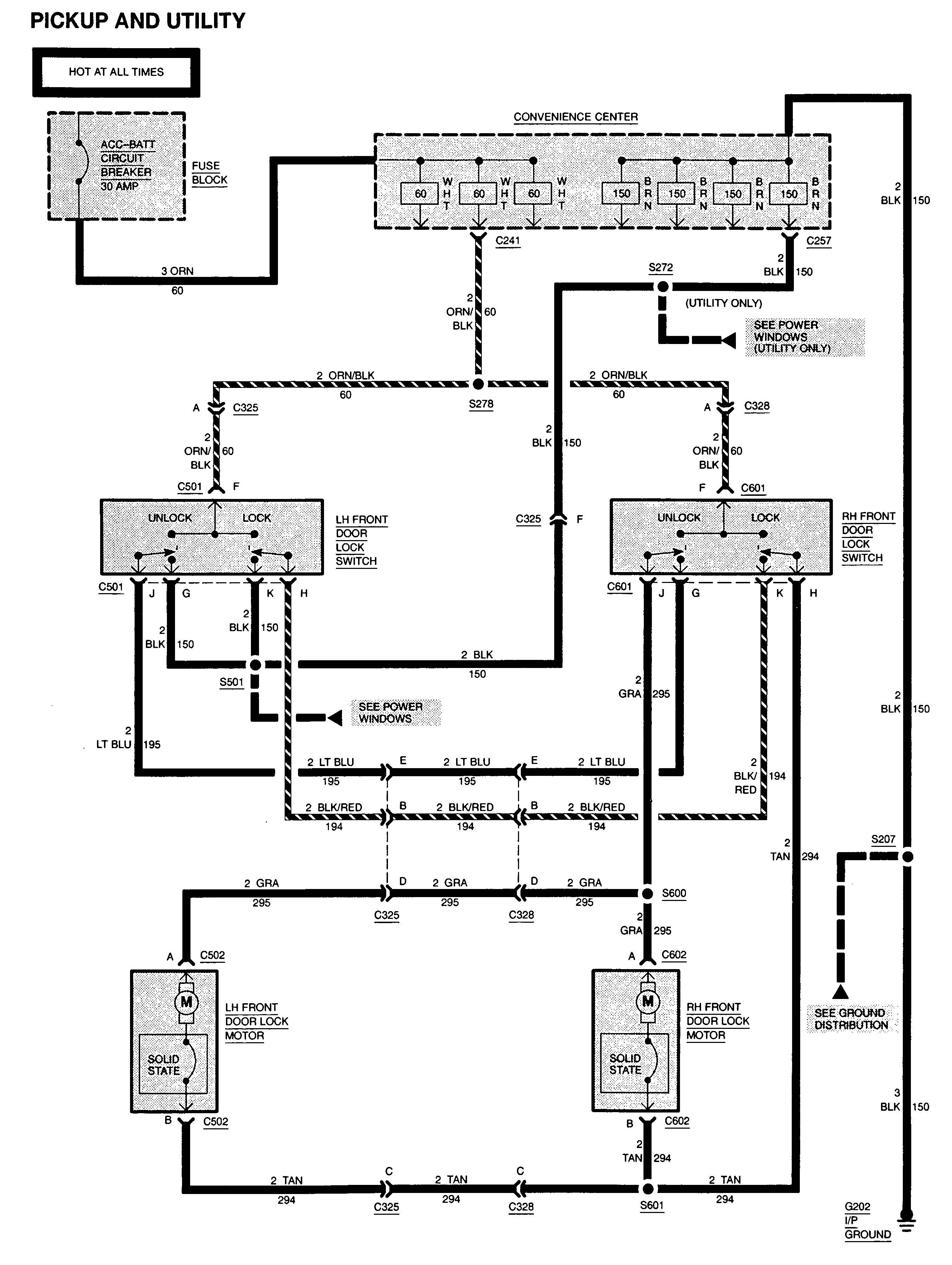 Gmc Sierra 1500 1995 Wiring Diagrams Power Locks Carknowledge Info