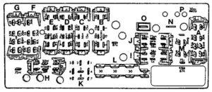 Audi 100 - fuse box diagram