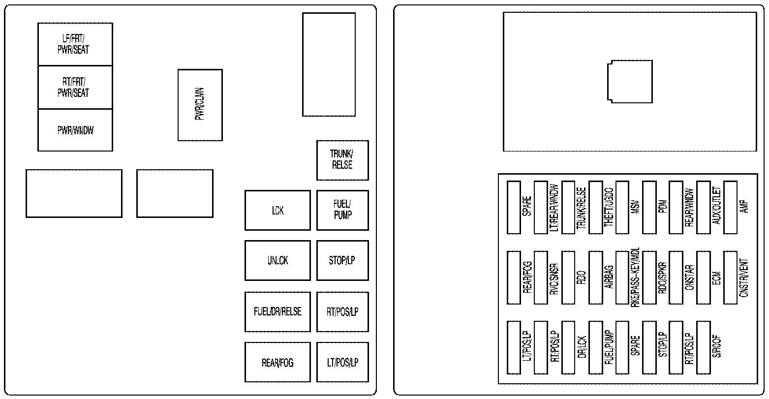 Cadillac CTS (2009) – fuse box diagram - Carknowledge.info 2005 Cadillac Cts Rear Fuse Box S Carknowledge.info