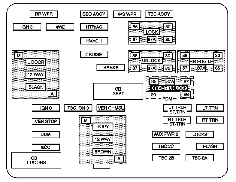 04 impala fuse box accessory cadillac esv  second generation  2003     2004      fuse box diagram  cadillac esv  second generation  2003