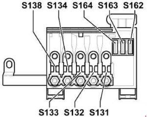 Audi A3 8L – fuse box diagram – main fuse box