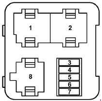 Audi A3 8L – fuse box diagram – relay carrier (3-pin)/fuse carrier