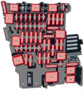 Audi A3 – fuse box diagram – interior