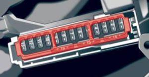 Audi A4 – fuse box diagram – driver's side cocpit
