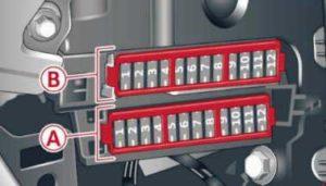 Audi A6 – fuse box diagram – front passenger side cockpit fuse assignment
