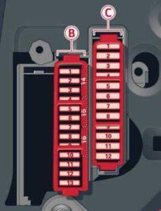 Audi A8 (D4) – fuse box diagram – driver side cocpit