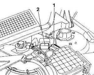 Alfa Romeo 155 – fuse box diagram – heating-ventilation system