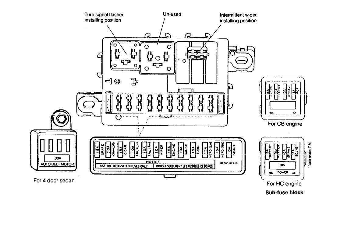 Daihatsu Charade  1990  U2013 1992   U2013 Fuse Box Diagram