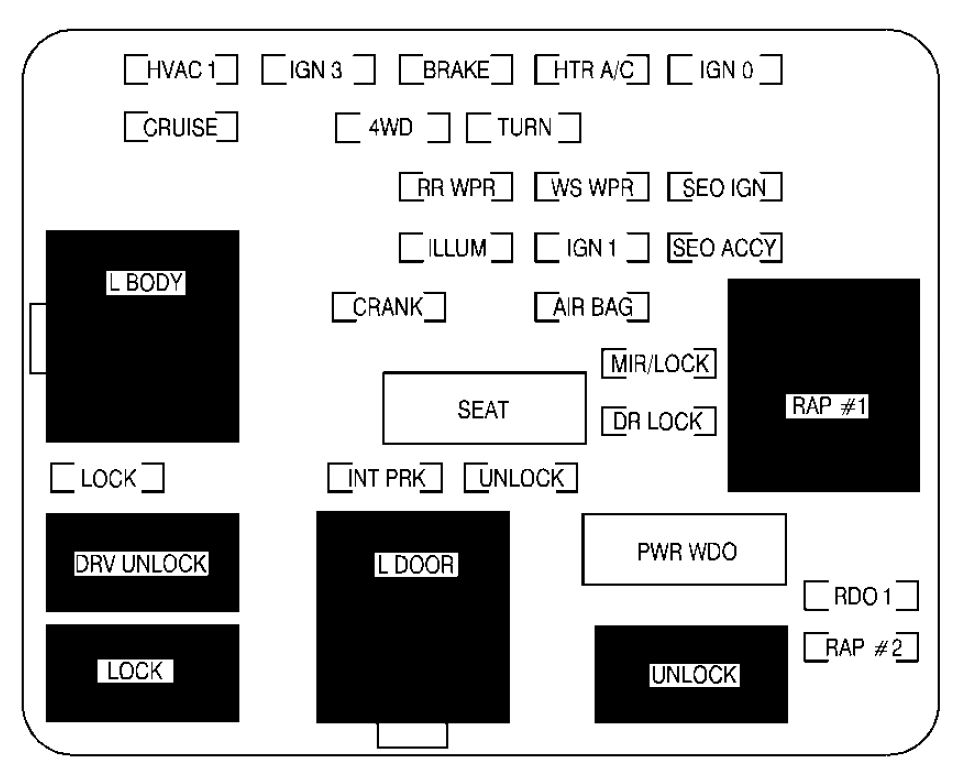 cadillac escalade (2001 – 2002) – fuse box diagram - carknowledge.info  carknowledge.info