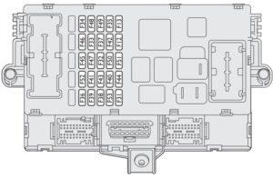 Lancia Ypsilon mk1 - fuse box - dashboard