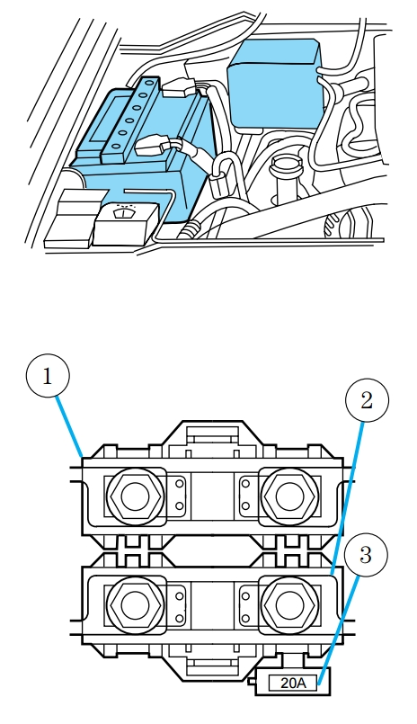 Lincoln Navigator  1998  - Fuse Box Diagram