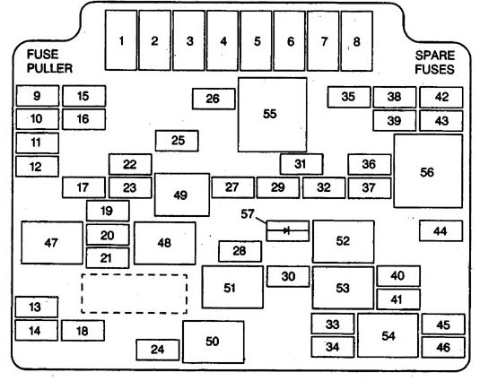 Isuzu Hombre  1998 - 2000  - Fuse Box Diagram