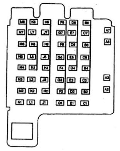 Isuzu Hombre  1997  - Fuse Box Diagram