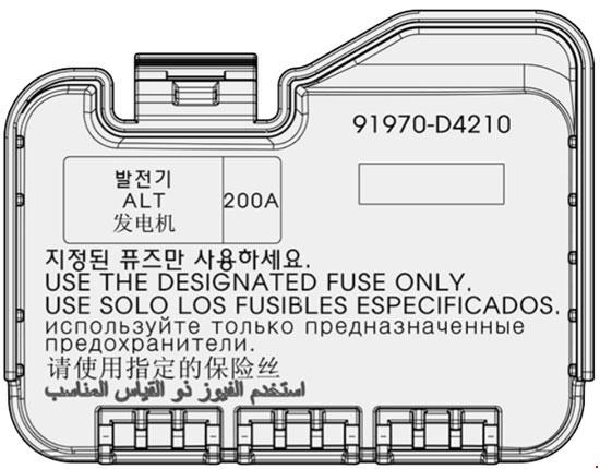 KIA Cadenza (2017 - 2018) - fuse box diagram - CARKNOWLEDGE on 01 kia sportage fuse diagram, kia power steering pump diagram, kia sedona 2004 diagram, 2009 kia spectra fuse diagram, 2007 kia sorento fuse panel diagram, kia sedona fuse box, kia transmission diagram, kia fuse box 1999, kia optima radio harness diagram, 1997 kia sephia fuse diagram, kia spectra5 fuse box location, kia engine diagram, kia optima fuse diagram, kia tie rod diagram, kia wiring diagram, kia soul wire diagrams, kia serpentine belt diagram, kia soul fuse diagram, kia sedona fuse panel diagram, kia spectra fuse box,