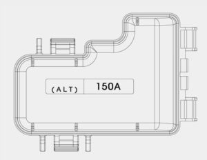 KIA Optima Hybrid - fuse box diagram - engine compartment (terminal cover)