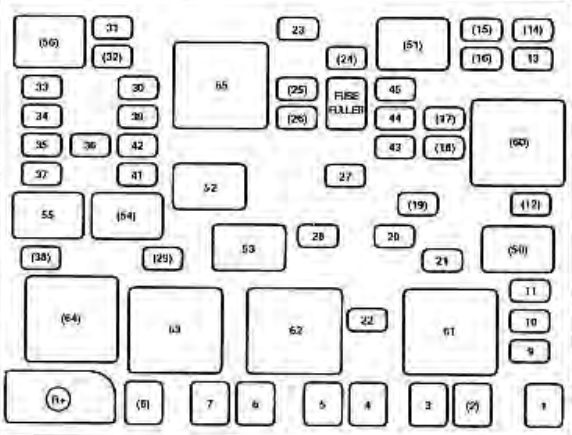 KIA Spectra (2003 - 2004) - fuse box diagram - CARKNOWLEDGE on chevy fuse, nissan fuse, 2003 tacoma tail light fuse,