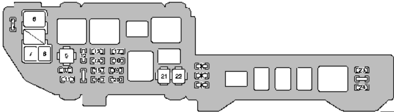 [DIAGRAM_5FD]  Lexus ES300 (2000 - 2001) - fuse box diagram - Carknowledge.info | 1993 Lexus Es300 Fuse Diagram |  | Carknowledge.info