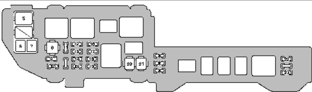 Lexus ES300 (1999) - fuse box diagram - Carknowledge.infoCarknowledge.info