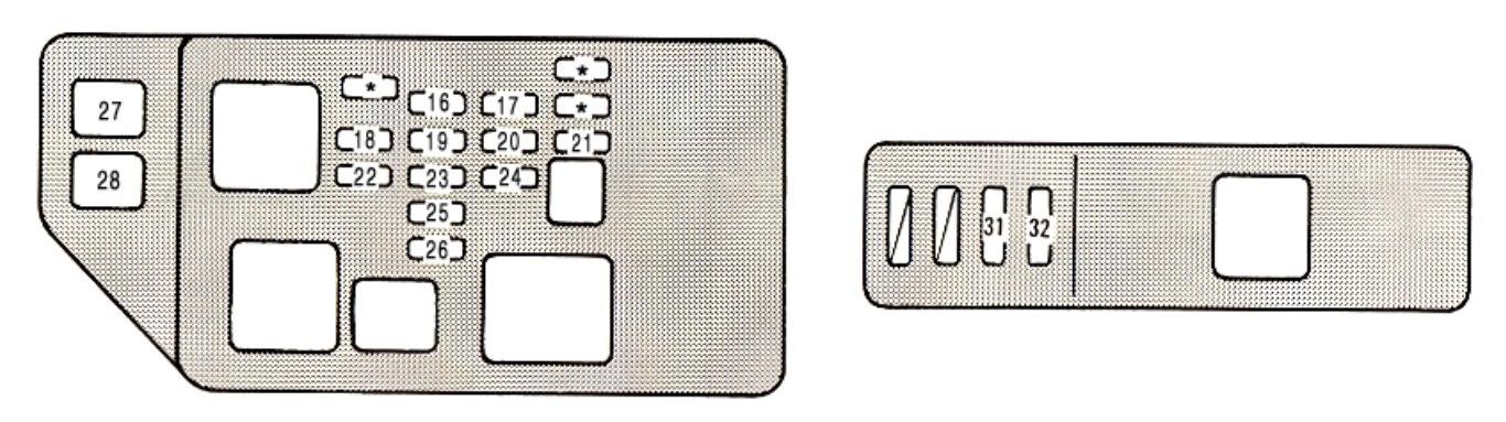 Lexus ES300 (1994 - 1995) - fuse box diagram - Carknowledge.infoCarknowledge.info