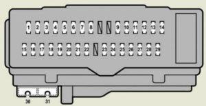 Lexus ES350 - fuse box - driver's side instrument panel