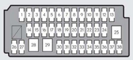 Lexus ES350 (2012 - 2015) - fuse box diagram - Carknowledge.infoCarknowledge.info