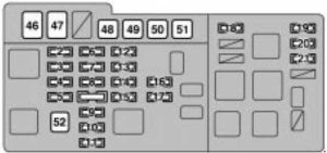 Lexus RX 300 - fuse box diagram - engine compartment fuse box