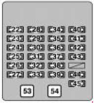 Lexus RX 300 - fuse box diagram - passenger compartment fuse box