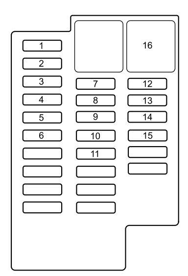2014 mazda 6 fuse box diagram