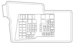 mazda cx 7 2007 2008 fuse box diagram carknowledge. Black Bedroom Furniture Sets. Home Design Ideas
