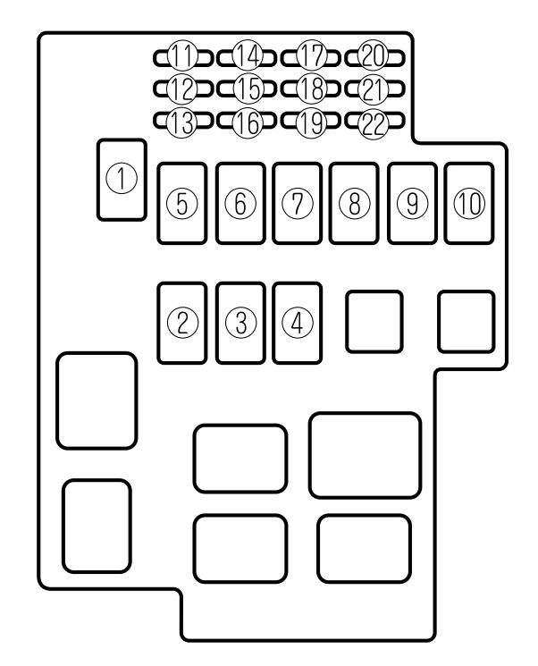 2000 Mazda 626 Fuse Box Diagram