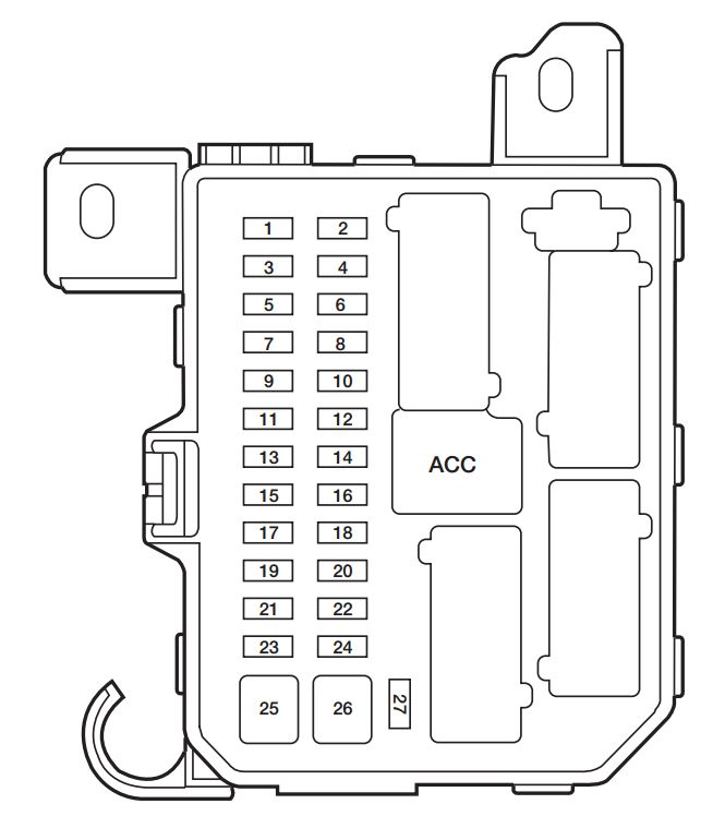 Mazda Tribute 2003 2004 Fuse Box Diagram Carknowledge Info