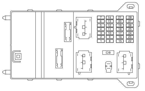 Mercury Milan (2005 - 2009) - fuse box diagram - Carknowledge.infoCarknowledge.info